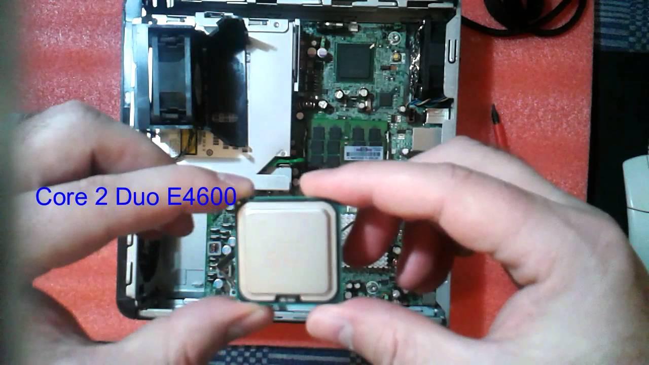 Redigitt 003 Hp Compaq Dc7800 Cpu Upgrade To Core2 Duo E8400 Youtube