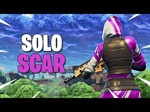GANANDO SOLO CON SCAR !! - Fortnite: Battle Royale