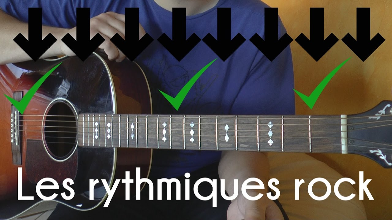 Guitare Comment Jouer Facilement Une Rythmique Rock Youtube