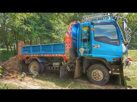 รถดั้มหกล้อ ติดหล่ม SLOW MOTION truck thailand