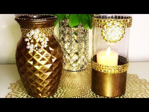 New Dollar Tree DIY Bronze Lantern & Vase Home Decor 2019 #dollartreediy #homedecor