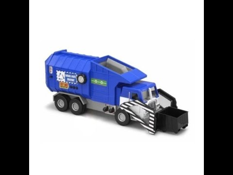 Hasbro Tonka Mighty Motorized Blue Garbage Truck Toy For