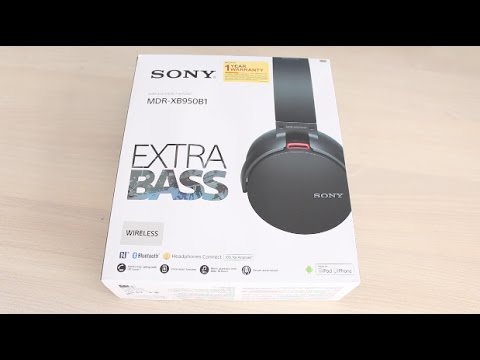 Sony MDR-XB950B1 Extra Bass Headphones Unboxing & Hands on