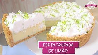 Receita de Torta Trufada de Limão – Profissional e Super Fácil