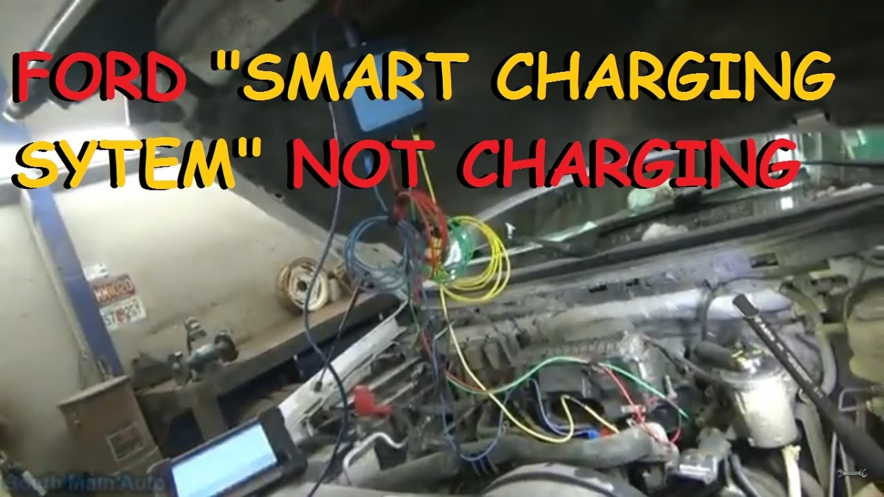 alternator charging system wiring diagram alternator charging diagram ford quot smart charge system quot alternator not charging youtube