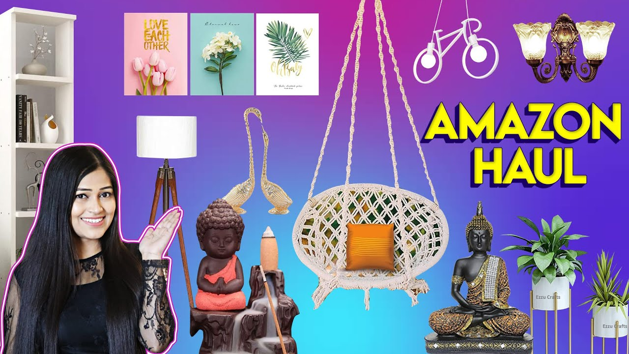 Huge* Amazon Home Decor Haul🏠Jhula,Lamps,Lights Most Affordable & Much More Be Natural