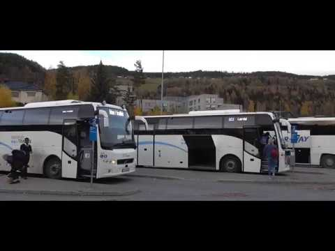 BUS AND TRAIN IN NORWAY #1 Lillehammer - Bergen