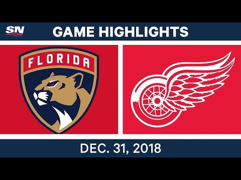 NHL Highlights | Panthers vs. Red Wings - Dec 31, 2018
