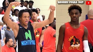 LeBron James Jr Gets Challenged By The Henderson Twins! EYBL Peach Jam 2019