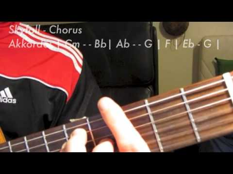Skyfall Adele Gitarre - Akkorde & Anschlagsmuster Tutorial - YouTube