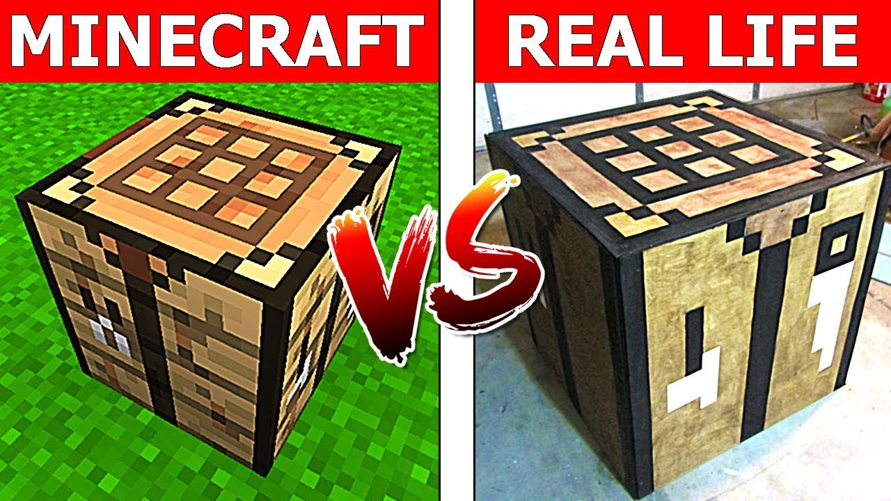 Minecraft Crafting Table In Real Life Minecraft Vs Real Life Animation 1 Holdynoob Youtube