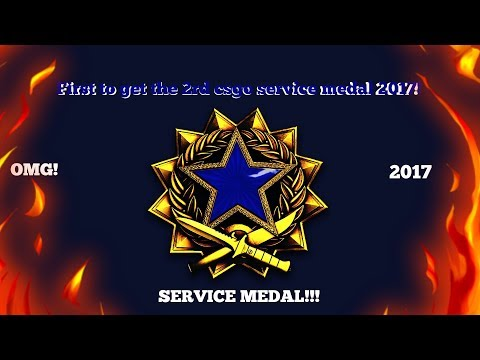 [CS:GO] THE 3RD SERVICE MEDAL 2017! (Sapphire Blue)