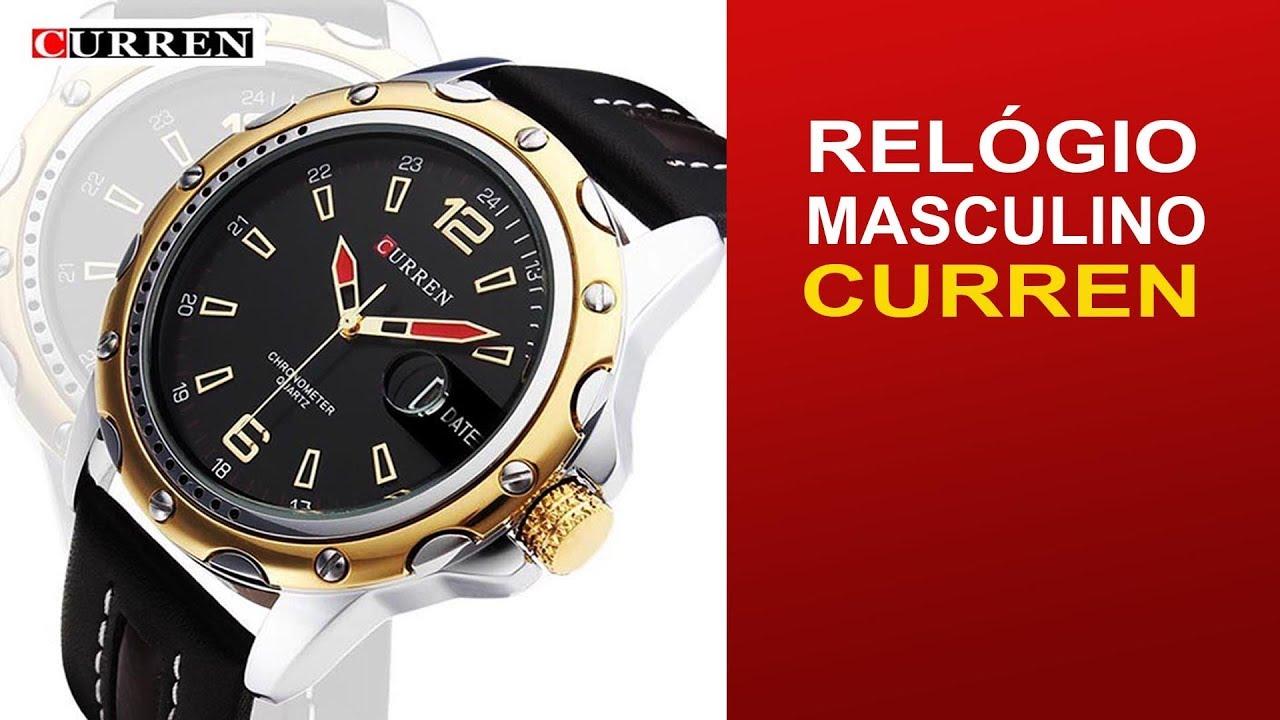 93b0697ff6d Relógio Masculino Curren 8104 Quartz