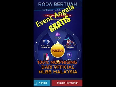 WOW!! EVENT MOBILE LEGENDS MALAYSIA!!! BISA DAPAT ANGELA GRATIS DAN IPHONE X!!!