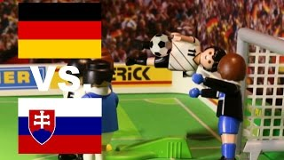 ⚽ DEUTSCHLAND - SLOWAKEI 3:0 HIGHLIGHTS - EURO 2016 HIGHLIGHTS PLAYMOBIL Stop Motion deutsch
