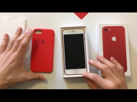 iPhone7 (PRODUCT)RED & Apple Silicone Case (PRODUCT)RED - Unboxing & Style