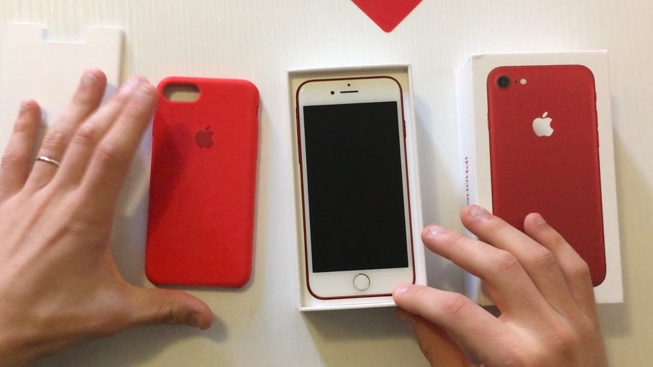 new arrival 37409 59b5c iPhone7 (PRODUCT)RED & Apple Silicone Case (PRODUCT)RED - Unboxing & Style