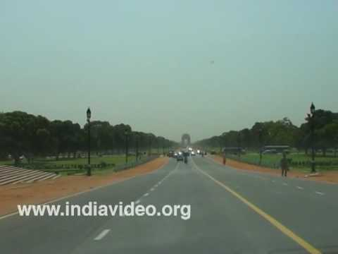 On the way to India Gate