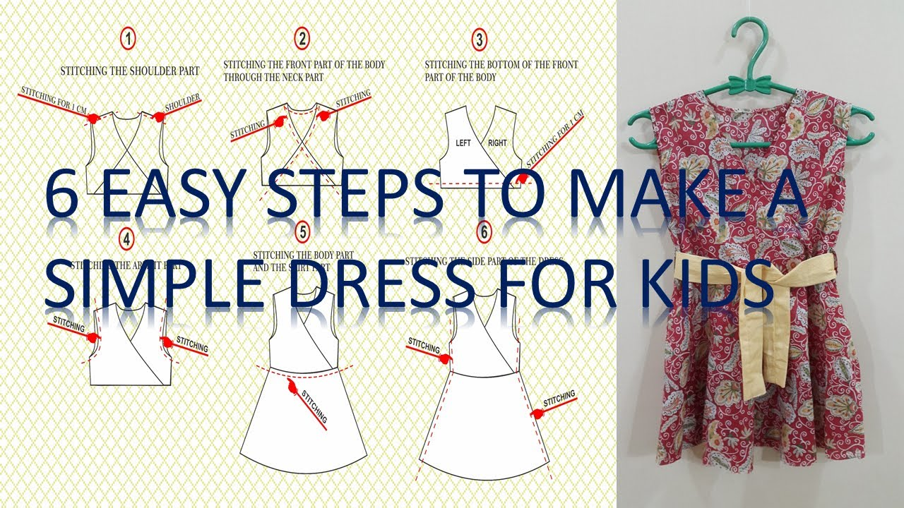 How to make a simple dress pattern and to sew it step by step for how to make a simple dress pattern and to sew it step by step for beginners jeuxipadfo Image collections