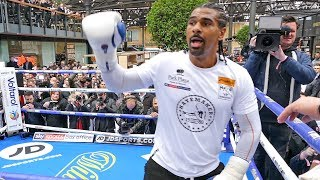 David Haye FULL PUBLIC WORKOUT vs Tony Bellew | The Rematch