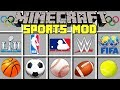 Minecraft SPORTS MOD l NBA FINALS, Basketball, Football, & More! l Modded Mini-Game