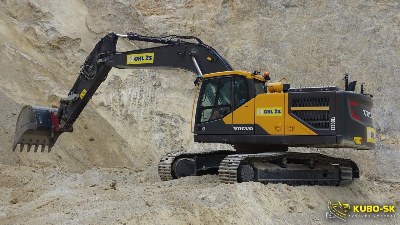VOLVO EC300E - excavator work in the quarry