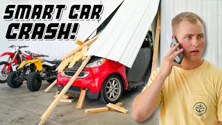Smart Car Crashes Through Wall
