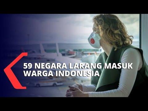 Karena Corona, 59 Negara Larang Masuk Warga Indonesia