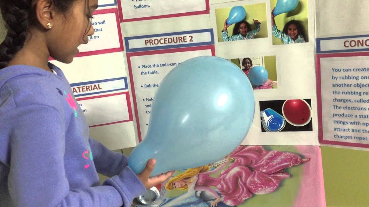 Anjali S First Grade Science Project On Static Electricity