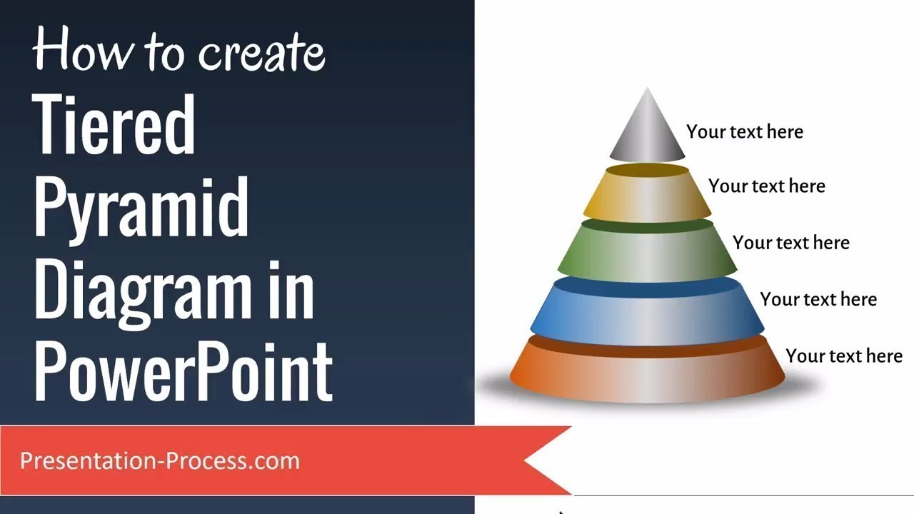 how to create tiered pyramid diagram in powerpoint youtube