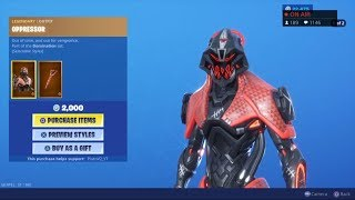 *NEW* OPPRESSOR SKIN & PLASMATIC EDGE! August 17 Fortnite Item Shop Live (Fortnite Battle Royale)