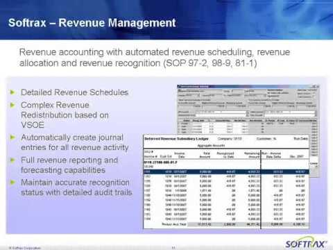 SOFTRAX Executive Webcast Series: Best Practices in Billing & Revenue Recognition [1/24/08]