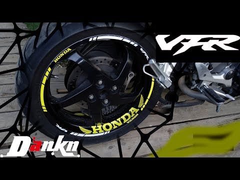Наклейки на диски мотоцикла VFR800| Stickers On The Wheels Motorcycle's | Motoreplicals