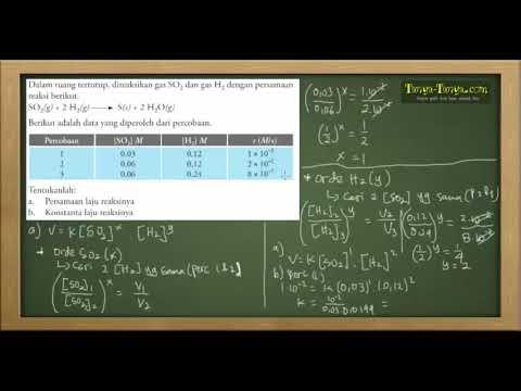 Belajar Kimia : Materi dan Contoh Soal Laju Reaksi Part 3