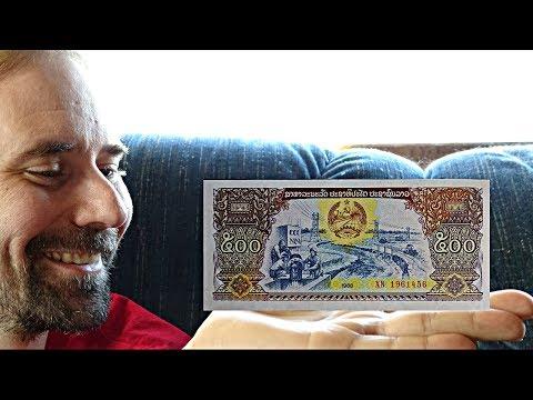 Laos 500 Kip 1988 Banknote