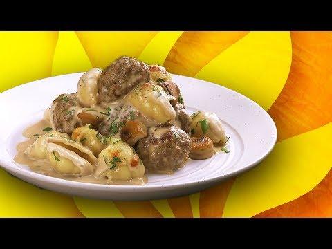 pâtes-forestières-aux-boulettes-de-viande-:-saveurs-automnales-dans-l'assiette