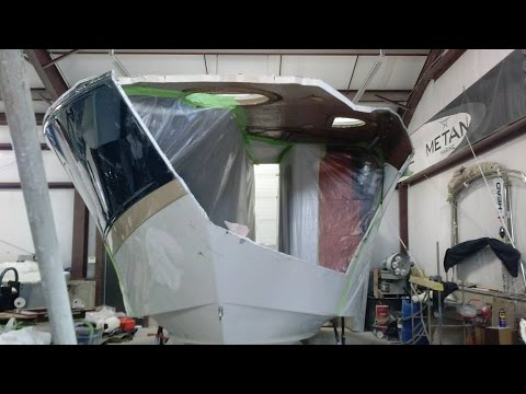 2014 Fourwinns Express 34 Major Fiberglass Repair
