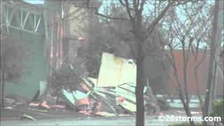 Probable Tornado Strikes Mobile, Alabama