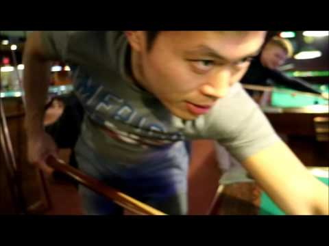Ken Lo Playing Pool