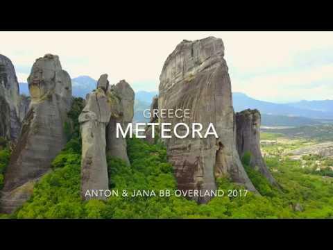 Meteora monastery Greece 2017, 4K Drone fly
