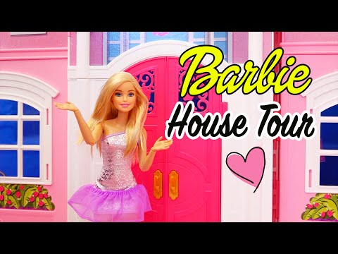 Barbie Dreamhouse Pink Dollhouse Tour ! SWTAD Playing with Toys and Dolls for Kids