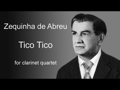 Tico Tico no Fubá - Abreu - for Clarinet Quartet