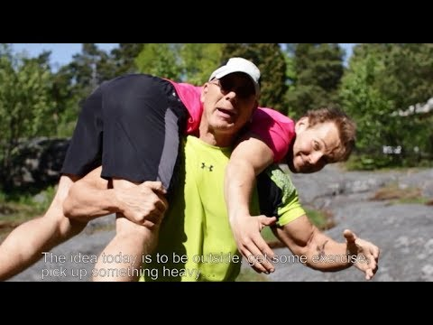 Finnish Forest Workout with Ambassador Bruce Oreck - YouTube