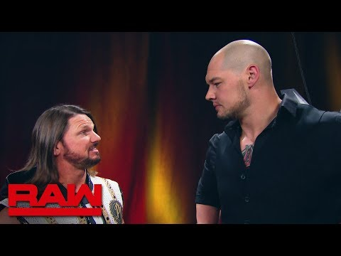 AJ Styles slaps Baron Corbin: Raw, May 20, 2019