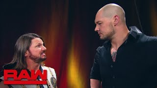 AJ Styles slaps Baron Corbin: Raw, May 20, 2019