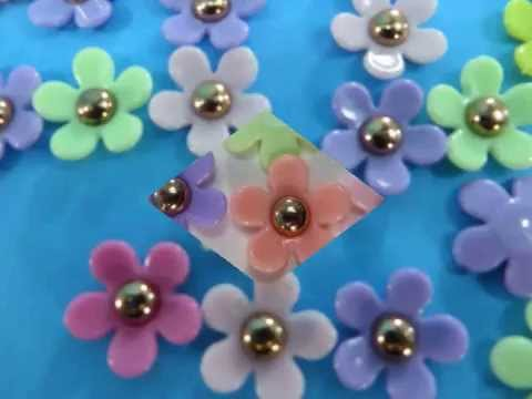 resin flower mix colors flatback applique craft supplies wholesale WholesaleSarong.com