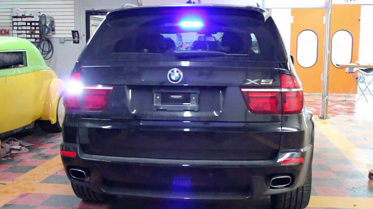 Bmw X5 Police Style Lights Undercover Ems 2 Youtube