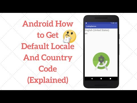 Android Locale - Get Locale Name And Country Code - Coding Demos