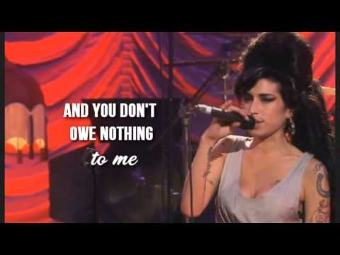 Amy Winehouse-My Tears Dry On Their Own LYRICS