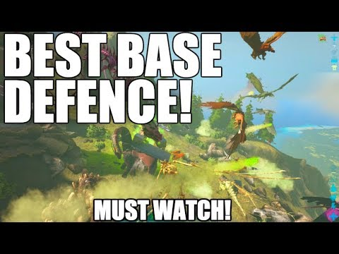 BEST BASE DEFENCE! MUST WATCH - ARK SURVIVAL DEFENCE RAID (Official Server Raid)